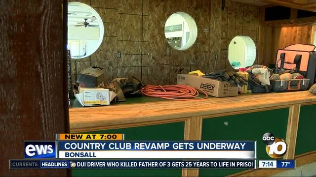 Bonsall country club revamp gets underway