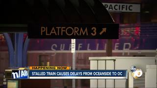 Disabled train causes delays, cancellations