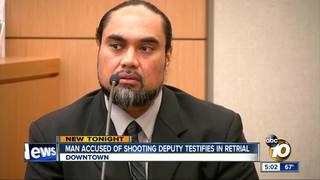 Man accused of shooting deputy testifies
