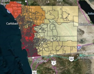 HEAT MAP: Registered voters in San Diego County