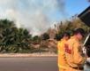 Firefighters stop Fallbrook brush fire