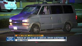 Pedestrian killed in San Ysidro crash