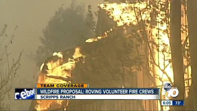 Wildfire proposal- roving volunteer fire crews