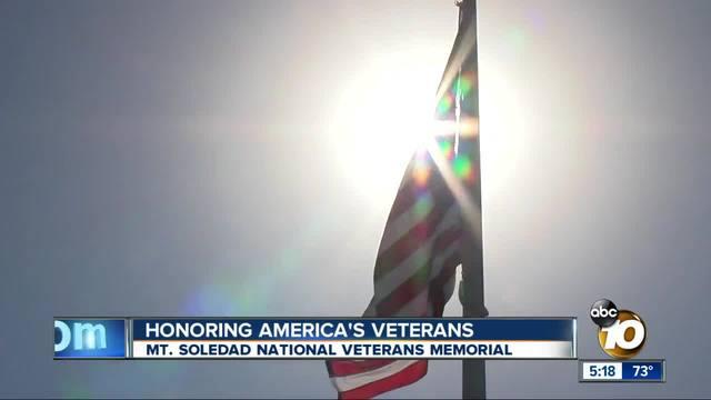 Hundreds honor America-s veterans on Mt- Soledad
