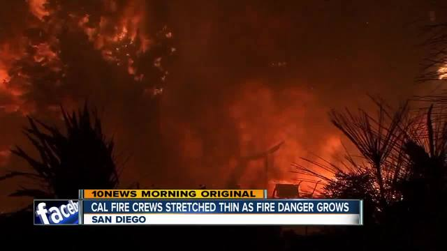 Fire crews shift resources to battle wild fires across state
