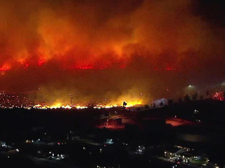 Sierra Fire burns close to homes in Rialto area