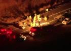 Five-car crash involving military Humvee