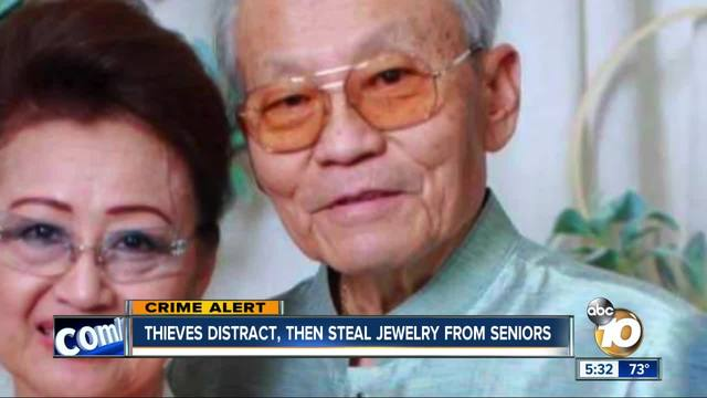 Linda Vista thieves distract- then steal jewelry from seniors
