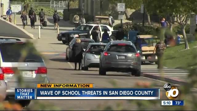 Wave of school threats in San Diego County