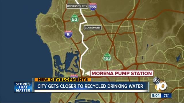 City moves closer to recycled water as drinking water