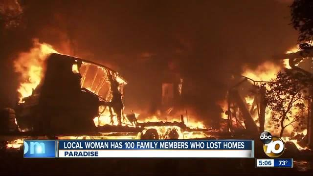 SD woman helping 100 family members who survived Camp Fire