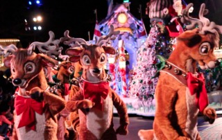 Holiday magic parades into Disneyland