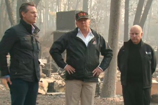 Trump tours Camp Fire devastation in CA