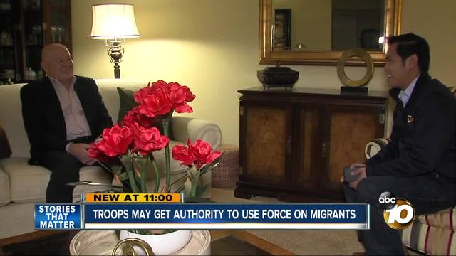 troops may get authority to use force on migrants